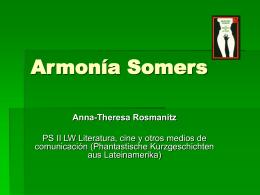 """Anna-Theresa Rosmanitz: Armonía Somers: """"El derrumbamiento"""""""