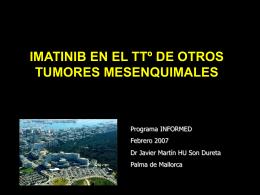 Imatinib: otras perspectivas en tumores
