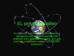 EL proyecto Galileo