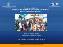 Población de El Salvador - Universidad Francisco Gavidia