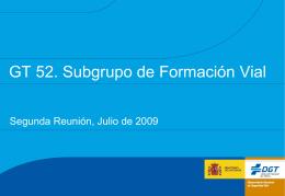 GT 52. Subgrupo de Formación Vial