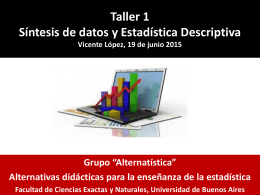 Taller de enseñanza de estadística (2015) Power Point