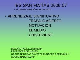 IES SAN MATÍAS 2006-07 - Aprendizaje significativo