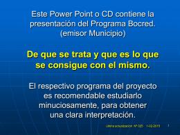 Diapositiva 1 - Programas Bocred & Lecred