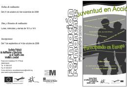 Sin título de diapositiva - Programa Juventud en Acción