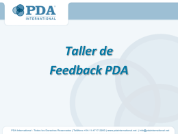 Diapositiva 1 - PDA International