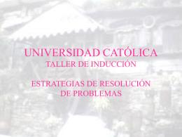 universidad catolica taller de inducción - UCAB