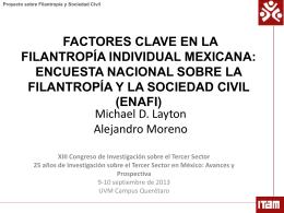 encuesta nacional sobre lafilantropía y la sociedad civil (enafi