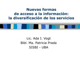 Nuevas formas de acceso a la información