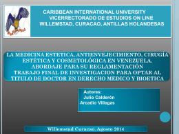 La Medicina Estetica, Antienvecimiento, cirugia Estetica y