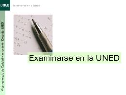 Información sobre los exámenes presenciales en la UNED