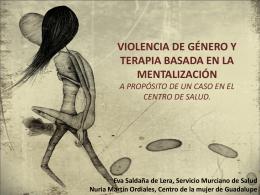 Violencia de género y terapia basada en la mentalización