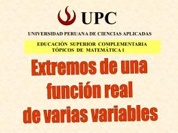 Extremos - Universidad Peruana de Ciencias Aplicadas