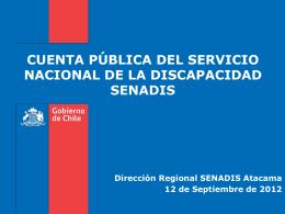 documento de cuenta pública dirección regional iii región power point