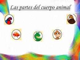 Las partes del cuerpo animal