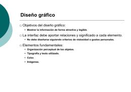 Directrices de diseño (II)