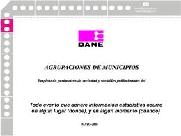 Colombia – Bases para un sistema homologado de GIS