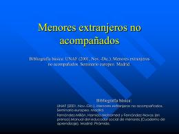 Menores extranjeros no acompañados (Juan Manuel