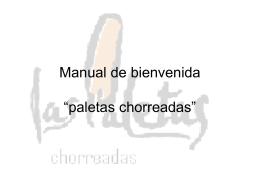 """Manual de bienvenida """"paletas chorreadas"""""""