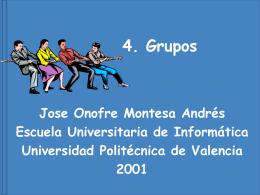Grupos - Universidad Politécnica de Valencia