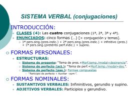 Sisterma verbal - IES Fuente de la Peña
