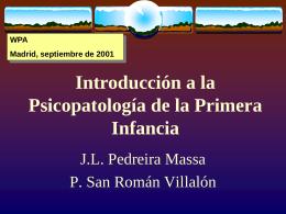 [PPS]Introducción a la Psicopatología de la Primera Infancia