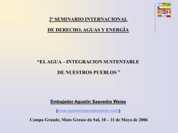 análisis 2º seminario internacional de derecho, aguas y energía