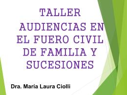 Audiencias Familia 2014 - Poder Judicial Tucumán