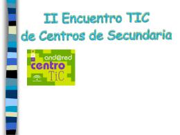 II Encuentro TIC de Centros de Secundaria