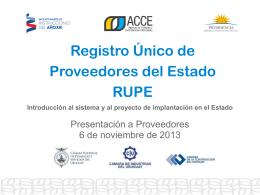 Presentación RUPE
