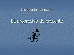 EL progresive de presente