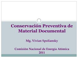 Taller Introducción a la Conservación Preventiva