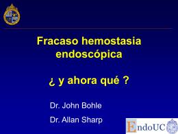 Fracaso hemostasia endoscópica