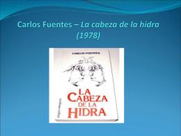 Carlos Fuentes – La cabeza de la hidra (1978)