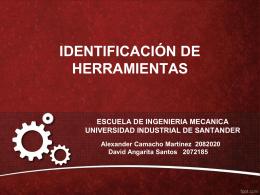Identificacion Herramientas - Universidad Industrial de Santander
