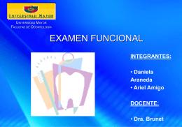 Examen funcional