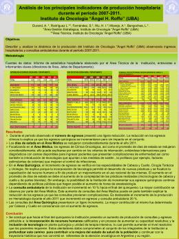 Diapositiva 1 - Instituto de Oncología Ángel H. Roffo