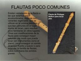 Flautas poco comunes
