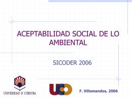 Aceptabilidad Social de lo Ambiental