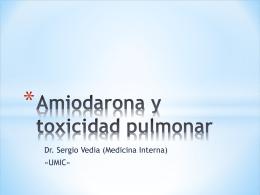 Amiodarona y Pulmón