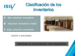 Clasificación de los Inventarios