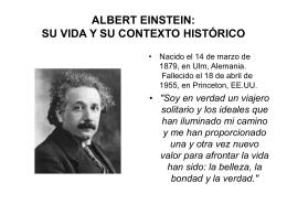 Albert Einstein:Su vida y su contexto histórico