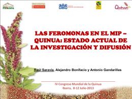 Feromonas MIP quinua R.Saravia PROINPA