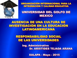 Presentación - Universidad del Golfo de México, Rectoría Centro
