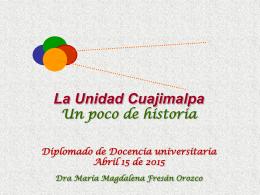 La Unidad Cuajimalpa, un poco de historia