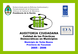 AUDITORIA CIUDADANA - Yerba Buena Virtual