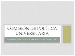 Evaluación Comisión de Política Universitaria