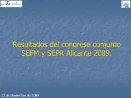 Datos Congreso SEFM