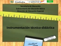 Instrumentación Técnico Didáctica
