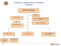 estructura organica metrotel